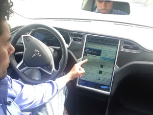 Tesla touchscreen display